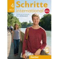 Schritte international Neu 4, Kursbuch + Arbeitsbuch + CD zum Arbeitsbuch ISBN: 9783196010848