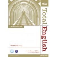 New Total English Intermediate WB-key+Audio CD ISBN: 9781408267363