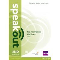 Speakout 2nd Edition Pre-intermediate Workbook with key ISBN: 9781447976974